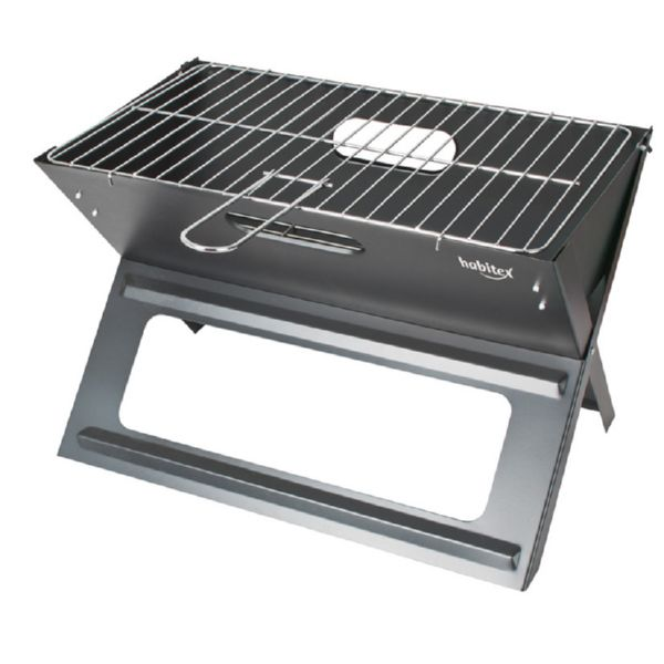 Barbacoa carbón plegable Supergrill 44.  Parrilla de 44x29 c