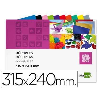 BLOC TRABAJOS MANUALES LIDERPAPEL MULTIPLE 240X315MM