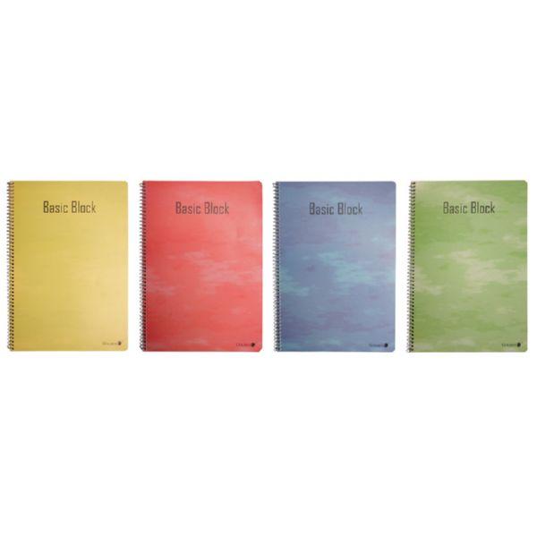 Cuaderno libreta A4. 80 hojas cuadriculadas.