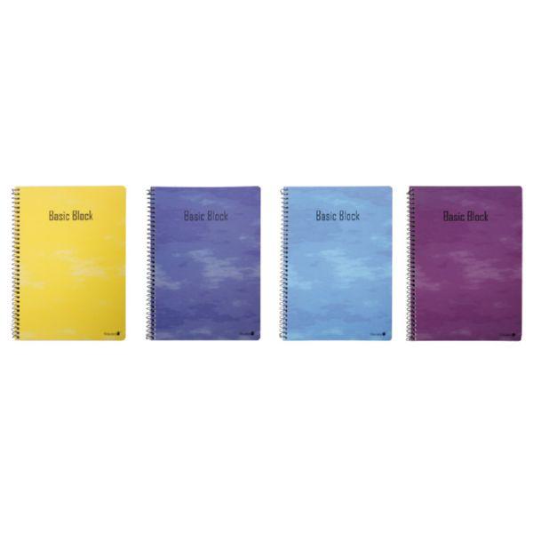 Cuaderno libreta A5. 80 hojas cuadriculadas.