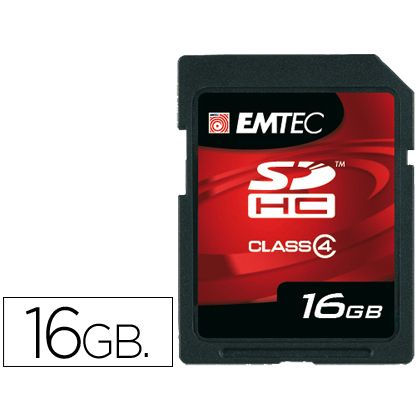 MEMORIA FLASH SD EMTEC SDHC 16GB
