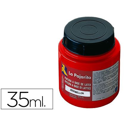 PINTURA LATEX LA PAJARITA BERMELLON 35 ML