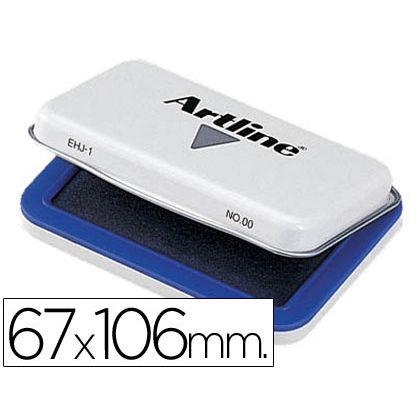 TAMPON ARTLINE N¦ 1 AZUL -67X106 MM