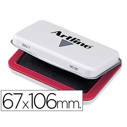TAMPON ARTLINE N¦ 1 ROJO -67X106 MM